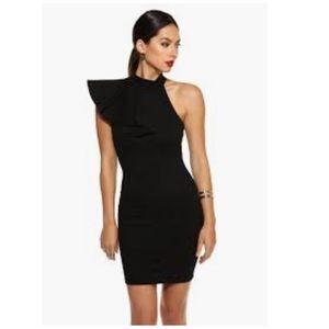 Windsor Black Ruffled Up Dress